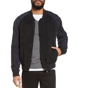Vince Colorblock Bomber Jacket